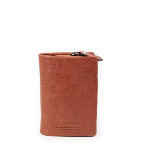 ZONALe COMODO 31032 縦型二つ折り財布 ブラウン
