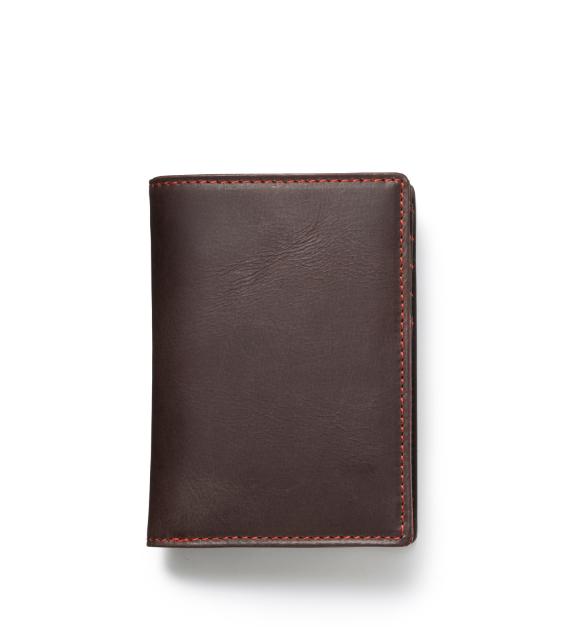 ZONALe GREY 31025 縦型二つ折り財布 ダークブラウン
