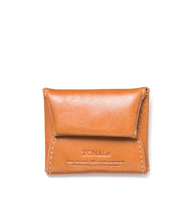 ZONALe RENZINA 31082 イタリアンレザーコインケース キャメル