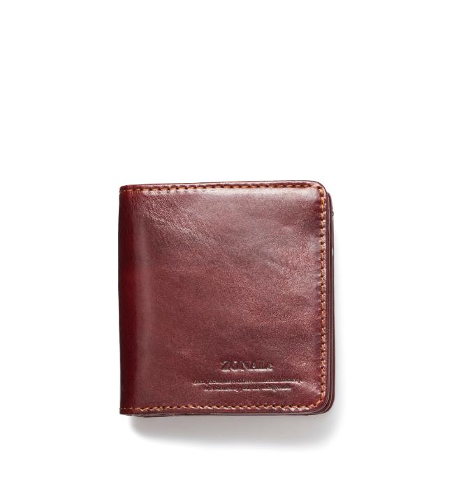ZONALe RENZINA 31084 イタリアンレザーLF二つ折財布S ブラウン