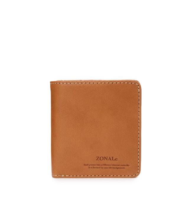 ZONALe RENZINA 31084 イタリアンレザーLF二つ折財布S キャメル