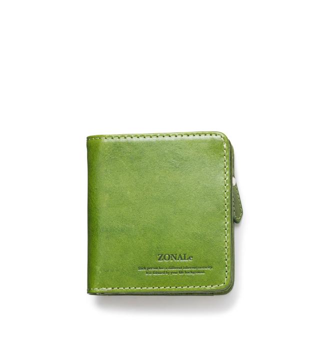 ZONALe RENZINA 31084 イタリアンレザーLF二つ折財布S グリーン