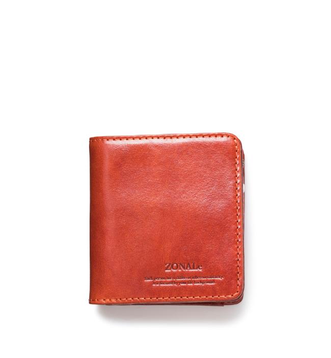 ZONALe RENZINA 31084 イタリアンレザーLF二つ折財布S オレンジ