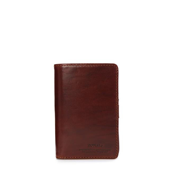 ZONALe RENZINA 31085 イタリアンレザーLF二つ折財布M ブラウン
