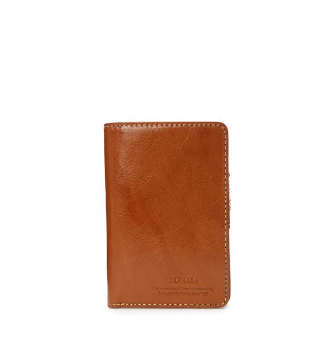 ZONALe RENZINA 31085 イタリアンレザーLF二つ折財布M キャメル