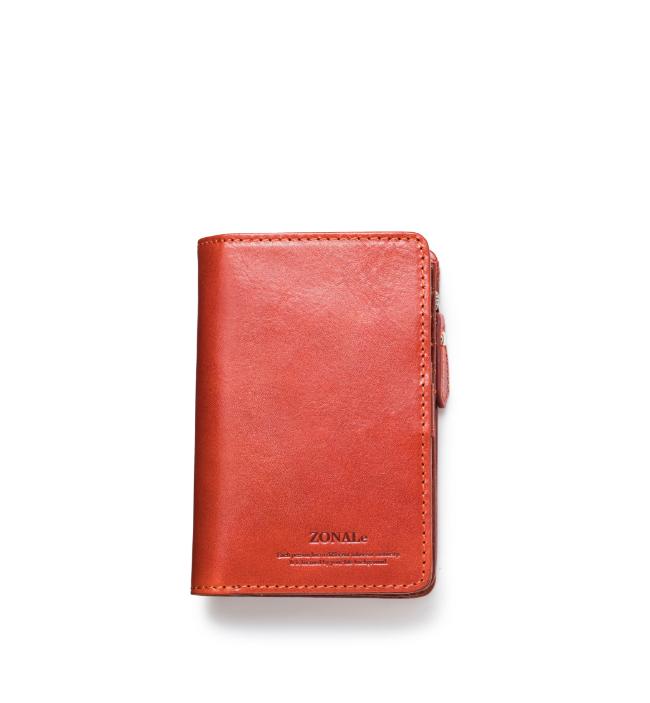 ZONALe RENZINA 31085 イタリアンレザーLF二つ折財布M オレンジ
