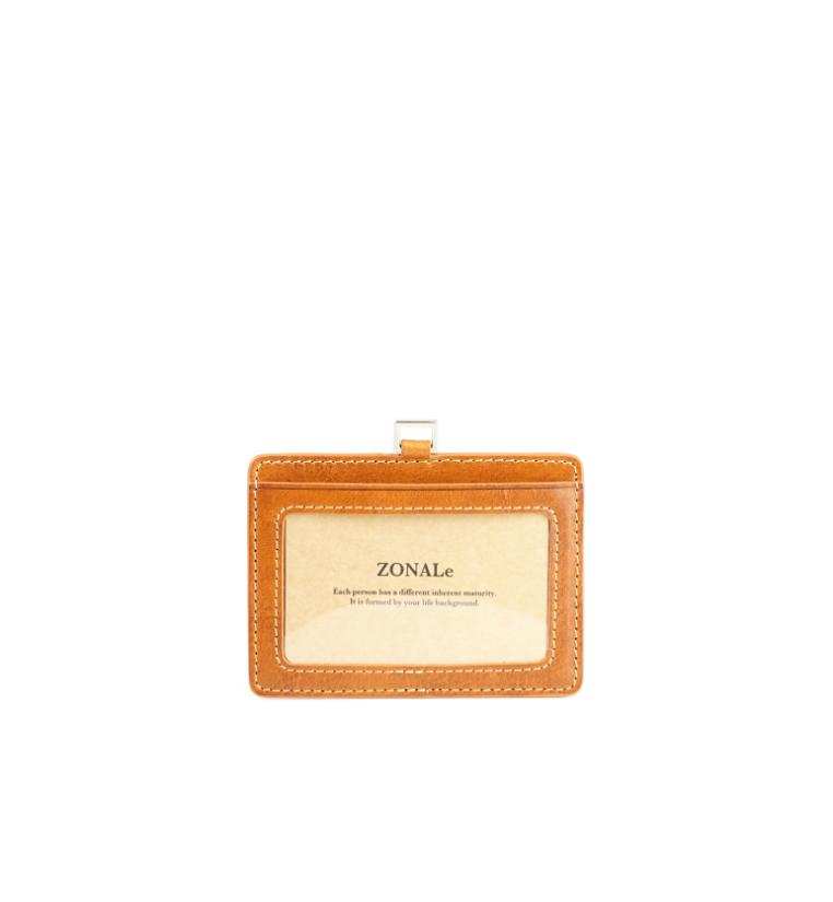 ZONALe RENZINA 31090 イタリアンレザーパスケース キャメル